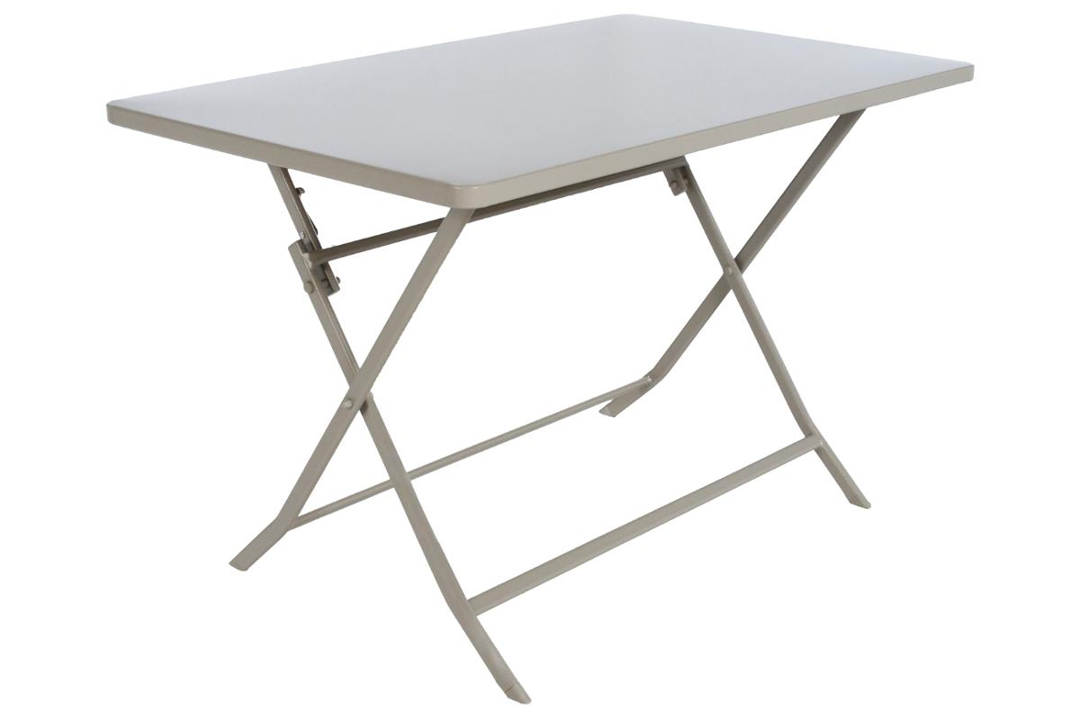 TABLE DE JARDIN PLIANTE RECTANGULAIRE GREENSBORO TAUPE